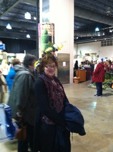 Attendee sporting a lovely fascinator